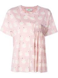 блузка со сборками и рисунком в виде лебедей Stella McCartney