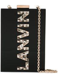 вертикальная сумка через плечо с логотипом Lanvin