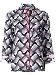 пижамная рубашка с сетчатым узором For Restless Sleepers