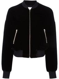 бархатная куртка-бомбер T By Alexander Wang