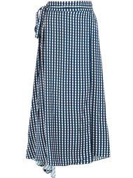 checked wrap skirt Preen By Thornton Bregazzi