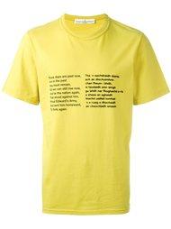 poem print T-shirt Golden Goose Deluxe Brand