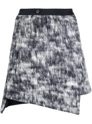 asymmetric wrap skirt Nude
