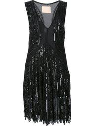 платье с V-образным вырезом и отделкой пайетками Loyd/Ford