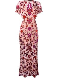 roses print long dress For Love And Lemons