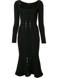 square neck fitted dress Cushnie Et Ochs