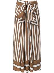 юбка в полоску с драпировкой Tome