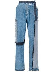 patch wide leg jeans Tome