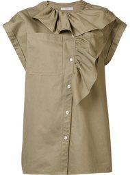 asymmetrical ruffle blouse Tome