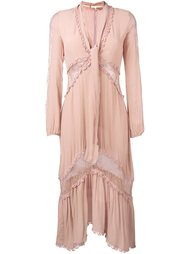 sheer detailing mid dress For Love And Lemons