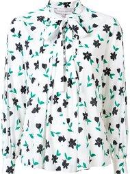 floral print pussy bow blouse Carolina Herrera