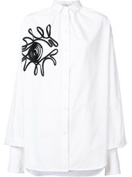 oversized gathered embroidered shirt Tome