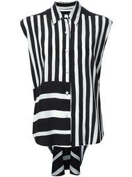 striped sleeveless shirt Tome
