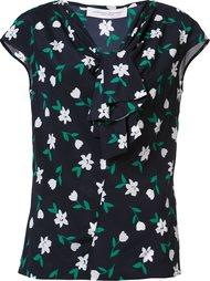 floral tie neck top Carolina Herrera