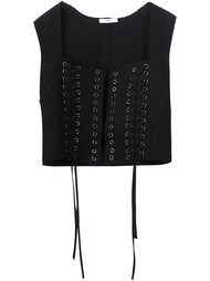 tie fastening cropped waistcoat Tome