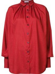 poplin gathered shirt Tome