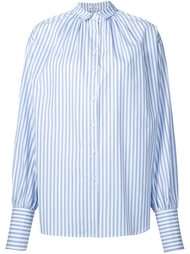 striped oversized gathered shirt Tome
