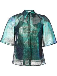 iridescent lace shirt  Delpozo