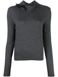 пуловер с оборками на горловине Kolor