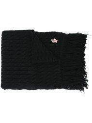 fringed knit scarf Moncler Grenoble
