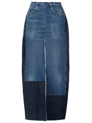 long denim slit skirt Tome