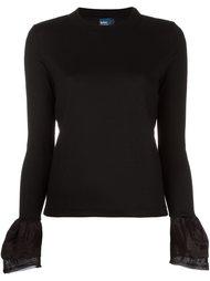 пуловер с контрастными манжетами Kolor