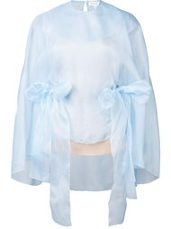 organza cape top  Delpozo