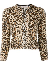 cheetah print cardigan  Carolina Herrera