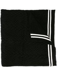 шарф с полосатой окантовкой Comme Des Garçons Play