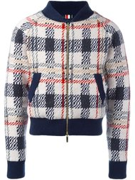 checked knit bomber jacket Thom Browne
