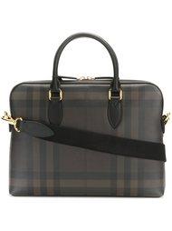 сумка для ноутбука в клетку 'house check' Burberry Runway