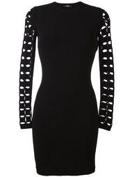 платье с вырезами на рукавах Versus
