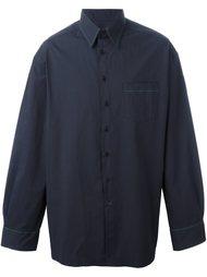 рубашка с контрастной строчкой Raf Simons