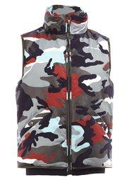 camouflage high neck gilet Moncler Gamme Bleu