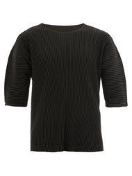 укороченная плиссированная футболка Homme Plissé Issey Miyake