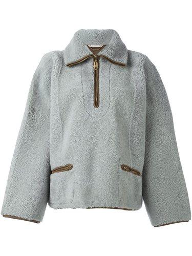 куртка из овчины на молнии Chloé