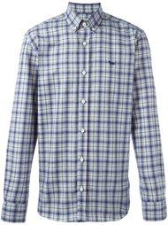 клетчатая рубашка с воротником на пуговицах Maison Kitsuné