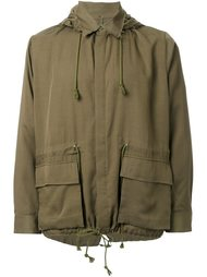 patch pocket hooded coat Christian Dada