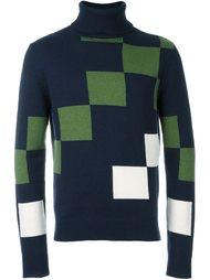 свитер с принтом квадратом  Carven