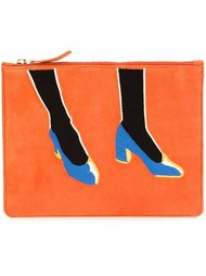 shoes print clutch  Lizzie Fortunato Jewels