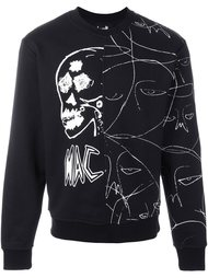 'abstract faces' sweatshirt Haculla