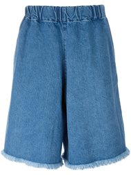 elasticated waist denim shorts Marques'almeida