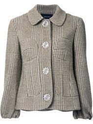 твидовая куртка в ломаную клетку Simone Rocha