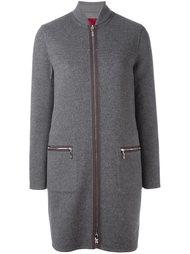 дутое пальто с контрастной застежкой Moncler Gamme Rouge
