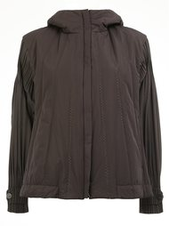 loose-fit sleeves hooded jacket Pleats Please By Issey Miyake