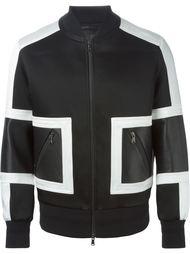 куртка-бомбер в стиле колор-блок  Neil Barrett