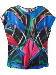 блузка с абстрактным принтом   Fausto Puglisi