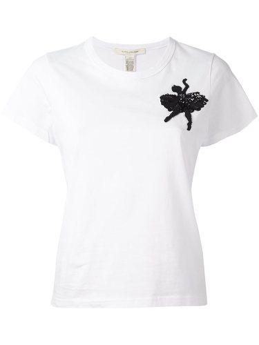 футболка с принтом балерины из пайеток Marc Jacobs