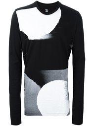свитер с длинными рукавами и геометрическим принтом Julius