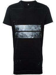 футболка свободного кроя с принтом-пейзажем Julius